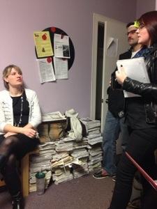 Amanda and Melissa talking stories