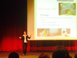 Dr. Laura Sproch gives her presentation to a packed house          By Hailey Craig