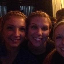 Rachel Petrie'15, Anna Windle'16, and Brooke Burghardt'17 enjoy the award ceremony