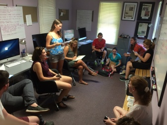 The Elm staff goes over assignments for the first issues