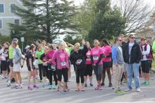The runners get ready for the race