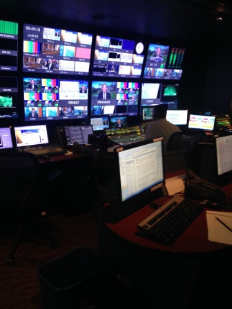 This is the control room where a segment called the Washington Journal was live on the air