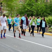 AXO help the boys to Walk a Mile in her shoes