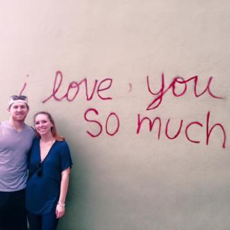 Sierra and her boyfriend enjoyed the local art