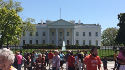 This was my first time to the White House, it was very crowed