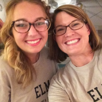 Social Media Editor Savannah Masterson '20 with Elm staff advisor Melissa McIntire